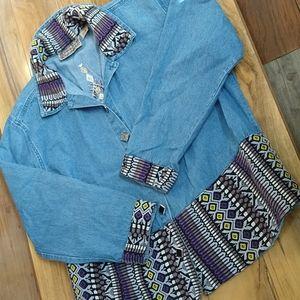 Tonttum Blues Vintage Embellished Cotton Jacket